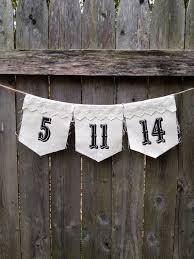 Save The Date Wedding Bunting Photo Prop