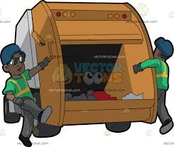 Two Black Male Sanitation Workers On The Back Of A Garbage Truck ... Garbage Truck Clipart 1146383 Illustration By Patrimonio Picture Of A Dump Free Download Clip Art Rubbish Clipart Clipground Truck Dustcart Royalty Vector Image 6229 Of A Cartoon Happy 116 Dumptruck Stock Illustrations Cliparts And Trash Rubbish Dump Pencil And In Color Trash Loading Waste Loading 1365911 Visekart Yellow Letters Amazoncom Bruder Toys Mack Granite Ruby Red Green