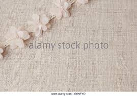 Artificial Flowers And Lace On Linen Copy Space Background Selective Focus Vintage Tone