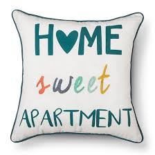 Apartment Room Essentials White Home Sweet Throw Pillow