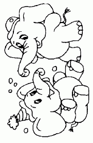 Free Printable Cute Baby Elephant Coloring Pages For Kids 45802