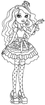 Ever After High Coloring Pages Raven Queen Hig