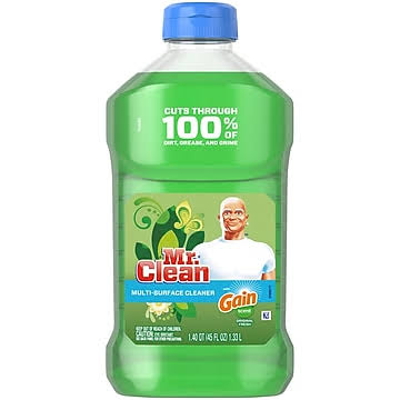 Mr Clean Cleaner, Multi-Surface, Original Fresh, with Gain - 1.40 qt