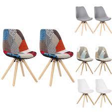 esszimmerstühle 2er set küchenstuhl kunstleder oder leinen