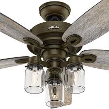 Hunter Outdoor Ceiling Fans Amazon by Hunter Crown Canyon 52 In Indoor Regal Bronze Ceiling Fan