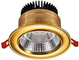 lingt gold runde led downlight spotlight einbau