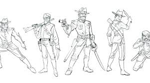 Civil War Coloring Page Pages Printable Army