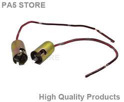 2x ba9s t4w light bulb socket holder metal side led light cars