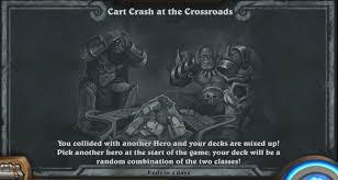 Alarm O Bot Deck Lich King cart crash at the crossroads tavern brawl 83 tavern brawl