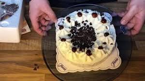 schwarzwälder kirsch torte unboxing schneiden und auftauen anleitung