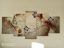 wandbilder wohnzimmer 5 teilig eur 10 00 picclick de