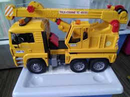 Crane Truck - Bruder, Babies & Kids, Toys & Walkers On Carousell Authentic Bruder Toys Man Telecrane Tc 4500 Crane Truck New In Box Kavanaghs Bruder Mercedes Benz Arocs Crane Truck With Lights Yellow With 360degree Swiveling 02754 Cstruction Tga Castle 02769 Forestry Timber With Loading Amazoncom Man And 3 2 Mack Granite Liebherr Games Truck Franc Jeu Rosemere News 2017 Unboxing Dump Garbage Crane Tgs By Fundamentally