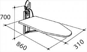 planche a repasser en bois table a repasser mural bois fonce hotel collectivité chr