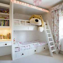 Girls Room Bunk Beds With Large Soft Toy