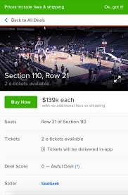 Cavs Floor Box Seats by Nba Finals You Can Sit Courtside For Game 7 For Only 122 000