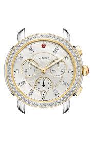 Movado Mini Desk Clock by Michele Sidney Chrono Diamond Diamond Dial Watch Case 38mm