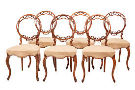 Fine Quality Set Of Six Victorian Walnut Dining Chairs (c ... Antique Victorian Ref No 03505 Regent Antiques Set Of Ten Mahogany Balloon Back Ding Chairs 6 Walnut Eight 62 Style Ebay Finely Carved Quality Four C1845 Reproduction Balloon Back Ding Chairs Fiddleback Style Table And In Traditional Living Living Room Upholstery 8 Upholstered Lloonback Antique French