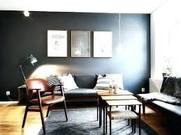 Accent Wall For Gray Room Black Living Walls