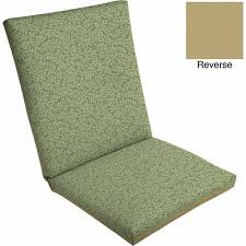 Mainstays Patio Furniture Replacement Cushions by Mainstays Outdoor Dining Chair Cushion Green Leaf Walmart Com