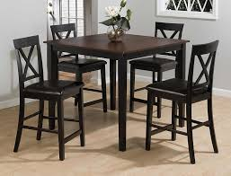 Burley Brown And Black 5-Piece Casual Pub Table & Counter Height ...