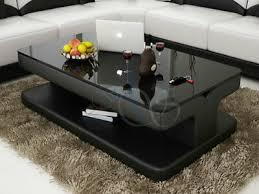 designer couchtisch polster tisch leder glas moderner tische glas beistell neu ebay