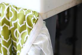 Burlap Utility Sink Skirt by Hidden Storage Idea Table Or Sink Skirt In My Own Style