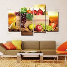 4 Panels Canvas Paintings Wall Pictures For Living Room Descorative The Kitchen Fruit Decor Modern Art