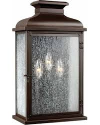 savings on feiss pediment 3 light outdoor wall sconce