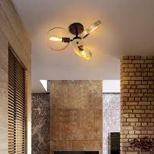 zmh vintage deckenleuchte wohnzimmer deckenle 360 drehbar 3 ringe e27 deckenbeleuchtung deckenleuchten für wohnzimmer schlafzimmer esszimmer flur