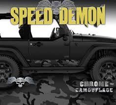 100 Speed Demon Trucks 19972017 2 Door Jeep Wrangler Rocker Wrap Black Urban Racing