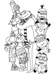 Image Of Minion Coloring Pages Free