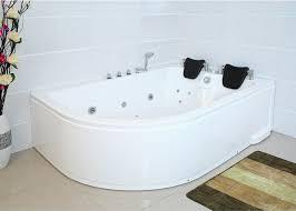 whirlpool badewanne bali rechts 180x120 cm mit 14 düsen mit armaturen luxus spa für bad