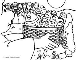 Feeding The Multitude Coloring Page