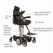 Jazzy Power Chairs Accessories by Pride Jazzy Air Power Wheelchair
