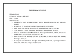 administrative assistant description for resume administrative