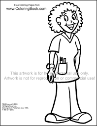 Free Online Coloring Pages Nurse