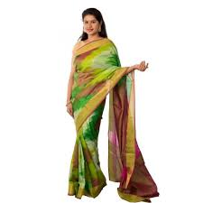 Multicolor Zig Zag Pattern Uppada Pure Silk Saree Dolls Pure