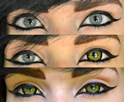 Halloween Contact Lenses Uk by 100 Halloween Cat Eye Contacts Fasching Make Up Im Letzten