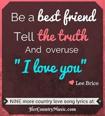 Country Music Lyrics Top 10 Love Song Go To