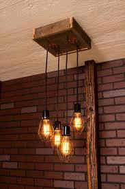 Pallet Antique Caged Light Chandelier