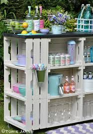 Wooden Crate DIY For Outdoor Bar