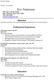 resume for accountant free accounting student resume sle for free tidyform