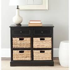 Black Dresser 4 Drawer by Safavieh Herman Distressed Black Chest Amh5702b The Home Depot