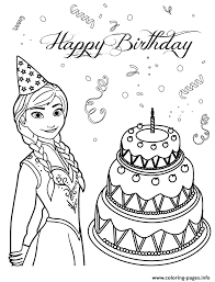 Anna Loves Birthday Cake Colouring Page Coloring Pages Print Download