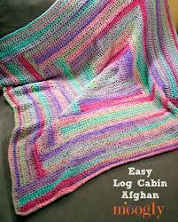 Easy Log Cabin Afghan moogly