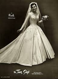 1956 ad fink wedding dress bridal gown helene arnhold veil bride