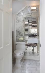 silver wall mirrors powder room traditional with antique mirror