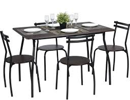 Amazon.com: Coavas 5pcs Dining Table Set Brown Kitchen Rectangle ... Paris 80 Cm Round Ding Table 4 Chairs In White Whitegrey Bellevue Pub D8044519 Cramco Counter Height Seater Oslo Chair Set Temple Webster Ding Table Chairs Easyhomeworld And Aamerica Port Townsend 5 Pc Oak Glass And With Fabric Seats Amazoncom Coavas 5pcs Brown Kitchen Rectangle Vfuhrerisch Black Wood Red Small Cheap Find 8 Solid Davenport Ivory Dav010