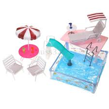 Amazoncom FLAMINGOSTORE Pretend Play Toy Chair For Barbie Doll