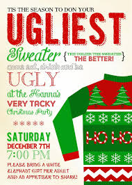 Free Printable Ugly Christmas Sweater Party Invitations EUR Happy